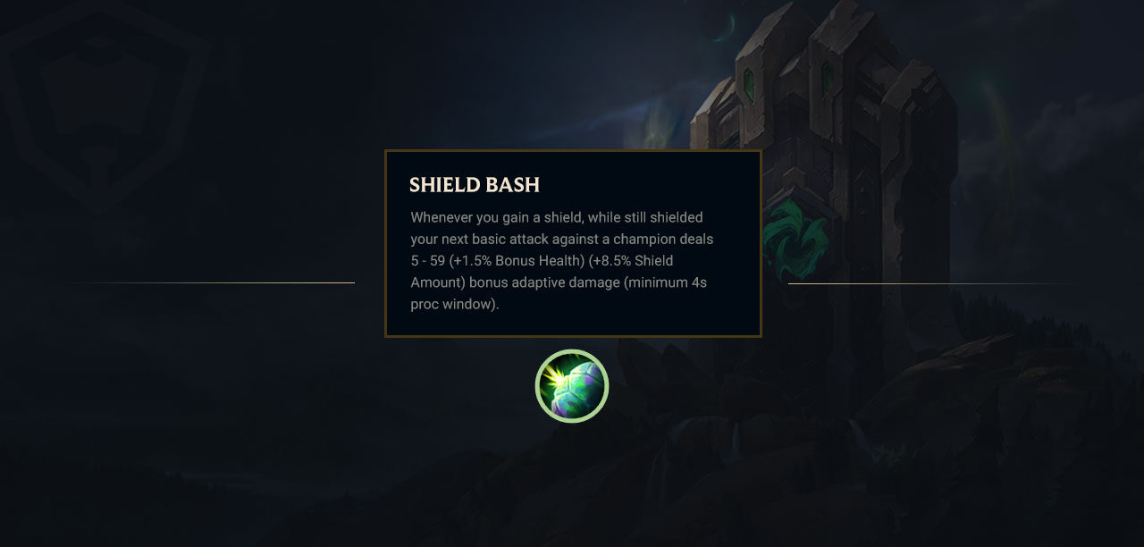 Pre-season 9 patch brings a new Resolve rune: Shield Bash | Rune Forge